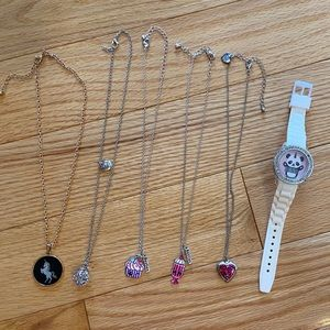 Justice necklaces and watch lot